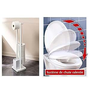 Abattant WC avec frein de chute et Valet WC K'ré - Blanc