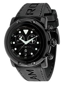 Glam Rock 0.96.2409 - Reloj analógico de cuarzo unisex, correa de silicona color negro de Glam Rock