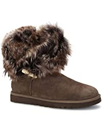 Ugg Australia Meadow Short Toggle Detail Boots CHOCOLATE 3