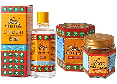 Tiger Balm Liniment (Liquid) 28ml + Tiger Balm Red Ointment