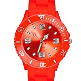 Taffstyle Farbige Sportuhr Armbanduhr Silikon Sport Watch Damen Herren Kinder Analog Quarz Uhr 39mm Melone