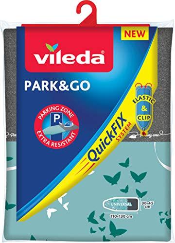 Vileda Park & Go Bügelbrettbezug mit metallisierter Kurzzeit-Parkzone für das Bügeleisen