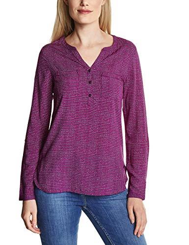 CECIL Damen Bluse 341195, Mehrfarbig (Fuchsia Pink 11440), Medium (Herstellergröße:M)