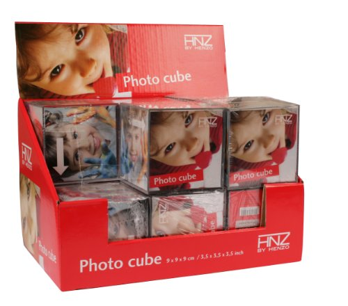 Digital Photo Cube (Henzo Photo Cube Transparent Multi- - Bilderrahmen (Acryl, Transparent, Multi-Bilderrahmen, Quadratisch, 90 mm, 90 mm))