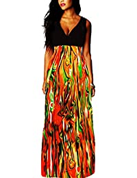 973f39d72ce89 Roiii New Plus Size 8-24 Ladies Summer Party Evening Sleeveless Long Maxi  Dress