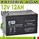 Batería AGM 12V 12Ah hermética para UPS máquina eléctrica Scooter # 20050905