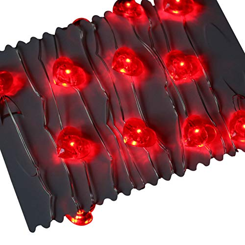 PK Green Feux Rouges Guirlande Lumineuse 20 LED d'intérieur éclairage Décoratif à Piles 2 m de Long par