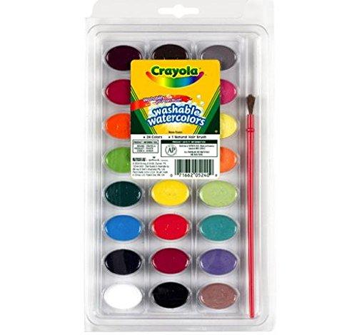 Bulk Buy: Crayola waschbar Aquarelle 24Farben/Pkg 53–0524(3er Pack) (Crayola-aquarell)