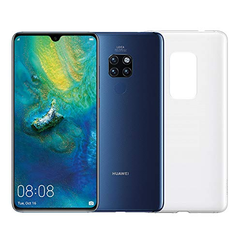 "Huawei Mate 20 (blauw) plus originele cover, telefoon met 128 GB, 6.53 Display ""Full HD +, Dynamic Octa Core-processor met kunstmatige intelligentie [Engelse versie]"