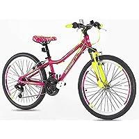 Northwest Guitars – 24 pulgada para bicicleta de montaña de aleación de las niñas – Luz
