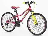 Vélo de montagne pour filles en alliage 24'' vélo de montagne, suspension de poids léger