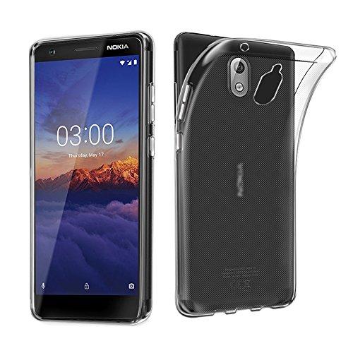 Nokia 3.1Fall, avidet Dämpfung Flexible Soft Gel TPU Silikon Schutzhülle Cover für Nokia 3.1(transparent) Gel Soft Fall