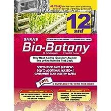 Saras 12th / +2 Bio Botany Line by Line Solved Questions - Exam Guide - English Medium – Tamilnadu State Board