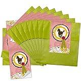 10 kleine grüne Papiertüten Geschenktüten Geschenk-Verpackung (9,5 x 14 cm) mit Aufkleber'Pferd'; ideal um kleinen und grossen Pferde-Fans eine kleine Freude zu machen