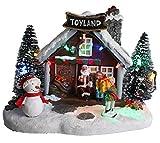 """Christmas Concepts® LED Illumina la Scena del Villaggio di Natale - 8""""/ 20cm (Negozio di Giocattoli TOYLAND)"""