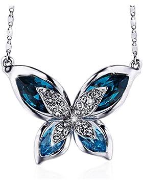 Sivery 'Schmettering' Damen Halskette, mit Swarovski Elemente, Damen Schmuck