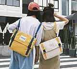 SEBAS Home Persönlichkeit Rucksäcke Kreative Leinwand Rucksack High School Student Schultasche Reiserucksack (Color : Tan)