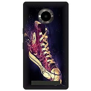 Koolbug Sports Shoe Hard Polycarbonate Designer Back Case Cover For YU Yuphoria YU5010