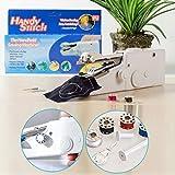 #9: Buyerzone Cordless Electric mini Sewing Machine Handheld Handy Stitch Machine