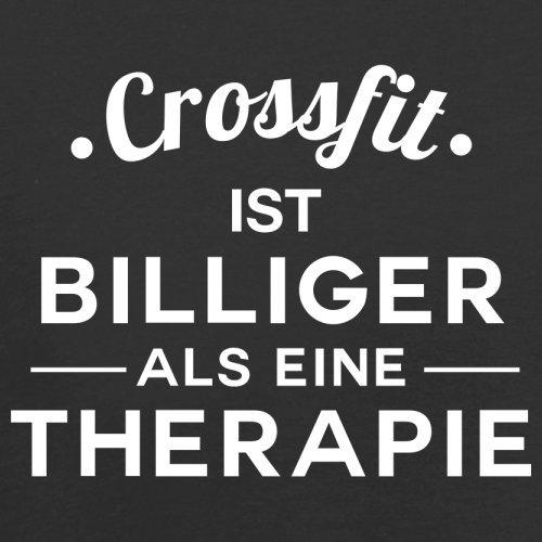Crossfit ist billiger als eine Therapie - Herren T-Shirt - 13 Farben Schwarz
