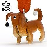 MONKIMAU 8022 Labrador Retriever Hund-e Schlüssel-anhänger Schlüssel-markierung Deko-Figur 3d Charm-s 5cm handgefertigte Haus-tier Leder Anhänger Tier-Liebhaber Geschenk Spielzeug Ornamente Deko-ration Welpe-n