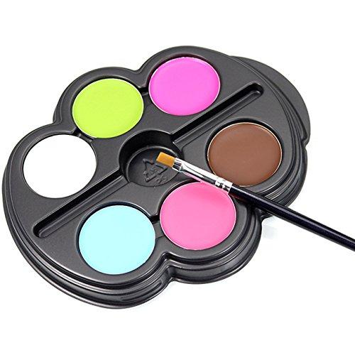 6 Körperfarbe Set: Schminkpalette Körpermalfarbe Make Up Schminke Palette Gesichtsfarbe Bodypainting Halloween Karneval Kostüm Ungiftig (Bleistift Kostüme Halloween)
