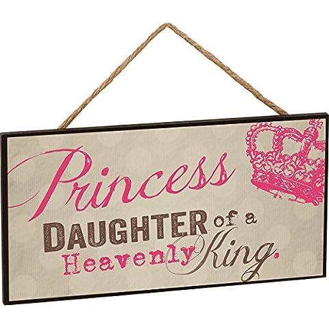 Diseño de princesas Disney hija de un rey celestial con percha de madera de prohibido cuerda de
