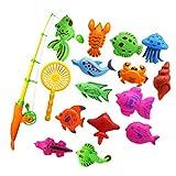 Best Kid Fishing Poles - Segolike 15Pcs Magnetic Fishing Toy Fish Model Set Review