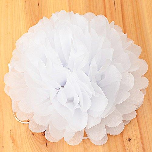Tiffany Ballkleid (Amody Bunte DIY 8 inch Tissue Papierkunst Blüte Ball Hochzeit Dekoration Weiß)
