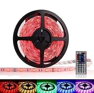 OxyLED® OCD-83 5M Impermeabile Striscia 300 LED 5050 SMD Luce RGB Colore Cambia Dimmerabile + Telecomando IR 44 Tasti + Alimentatore EU 12V 5A 60W
