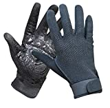 ZYPMM Professionelle Outdoor-Kletterhandschuh Sommer Mesh-Handschuhe mit rutschfestem Gummi Berg ( Color : Schwarz , Größe : M )