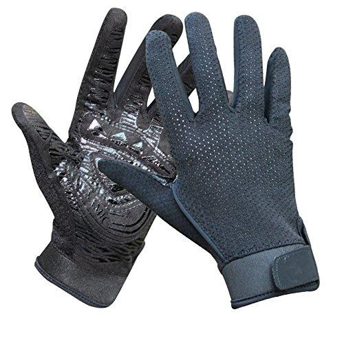ZYPMM Professionelle Outdoor-Kletterhandschuh Sommer Mesh-Handschuhe mit rutschfestem Gummi Berg (Color : Schwarz, Größe : L)