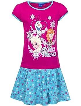 Frozen - Die Eiskönigin T-Shirt und Rock Kollektion 2017 Set 98 104 110 116 122 128 Mädchen Kurzarmshirt Anna...