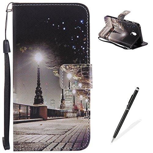 MAGQI Samsung Galaxy J530/J5 2017 Magnetic Flip Stand Funzione Custodia Caso Libro Pelle PU,Carte di Credito Slot e Contenitore di Contanti Bello Colourful di Disegno Del Modello - London Street