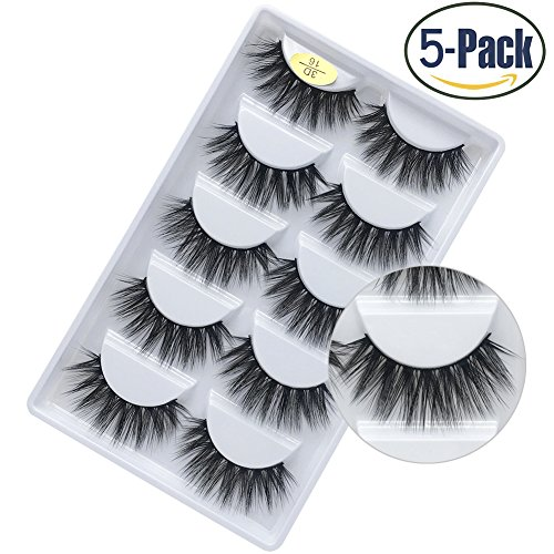 61f139a8970 Faux 3D Mink Eyelashes Dramatic Makeup Thick Long Multilayer Fluffy  Hand-made False Eyelashes Pack