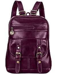 SNUG STAR Soft PU Leather Backpack Vintage School Bag Travel Purse Satchel for Women and Girls