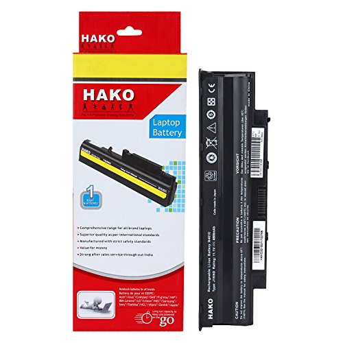 Hako 6 Cell Laptop Battery for Dell Inspiron 13R 14R 15R 17R N4010 N5010 N4110 N5110 n4050 N5050 J1KND  available at amazon for Rs.1399