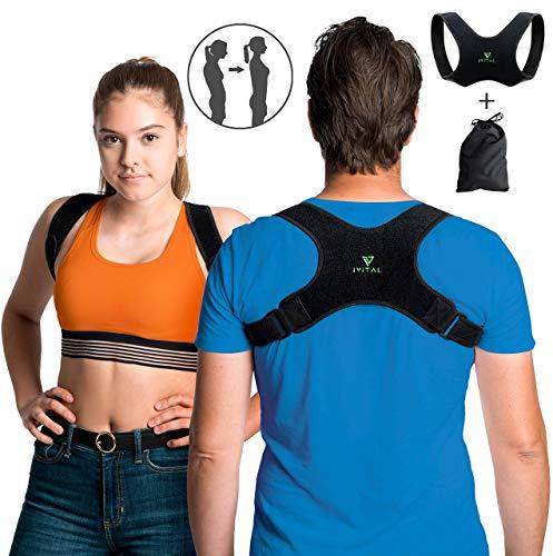 IVITAL Haltungskorrektur für Männer und Frauen unsichtbar unter Kleidung Dank der ultradünnen Neopren Stoff