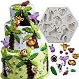 7horse Animal Molds Cake Decorating Supplies Jungle Animal Silicone Molds for Chocolate DIY Cookies Mousse Candy Ice Handmade