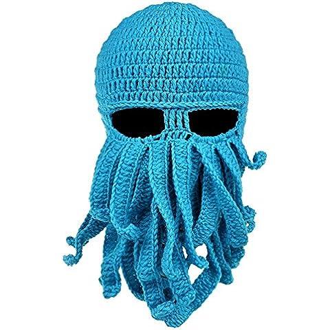 Bdawin Tendencia de la moda máscara pulpo sombrero Wind Ski Mask Knit Hat Octopus