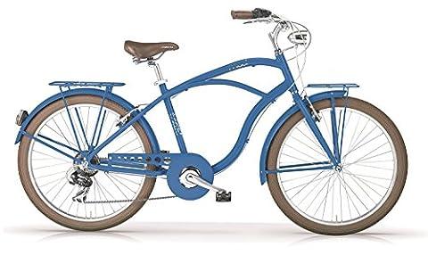 Vélo MBM MAUI 2016 cruiser homme (Bleu aviateur opaque, 26