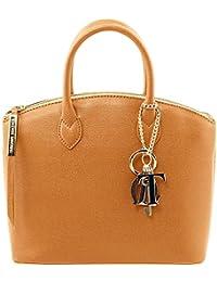Tuscany Leather - TL KeyLuck - Sac cabas en cuir Saffiano - Petit modèle- TL141265