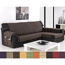 Funda Cubre Chaise Longue Modelo Darsena, Color Beige, Medida Brazo DERECHO – 240cm (Mirándolo de frente)
