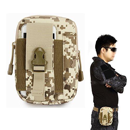 Taktische Hüfttaschen Tasche Gürteltasche 1000D mit verstellbarem Schultergurt Hüfttasche Beintasche Multifunktionstasche für Outdoor Wandern Camping Radfahren,Camouflage Desert Digital