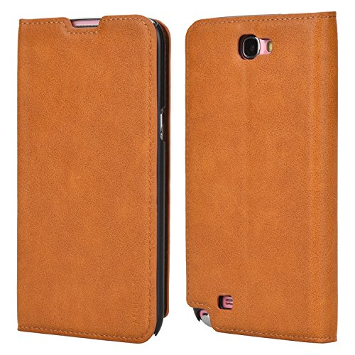 Mulbess Slim Custodia per Samsung Galaxy Note 2, Cover a Libro Samsung Galaxy Note 2, Custodia in Pelle Samsung Galaxy Note 2 Cover per Samsung Galaxy Note 2, Marrone