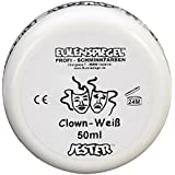 Eulenspiegel 500507 - Schminke Clown, 50 ml, weiß