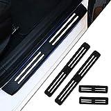 Tuqiang 4 Piezas Umbral De La Puerta Protectores 4D Fibra de Carbono Adhesiva Pegatinas para Altea