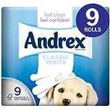 Andrex Classic White Papier Toilette 9par pack étui de 4
