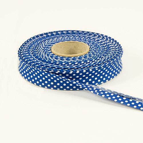 sustancias Werning algodón Cinta al bies Lunares Royal Azul–Precio DE 1,0m
