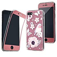 iPhone 7 (4.7''), NWNK13Ž Bling Case Silicone Gel [ 360° Durable Complete Body ] Case Cover With Card Organiser